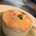 Pot pie. Of the chicken variety. Also with mushrooms, carrots, celery and asparagus. Nothing frozen, including the crust. © Sugar + Shake