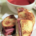 Grilled Cheese Sammitches, with homemade Garlic Tomato Soup. © Sugar + Shake
