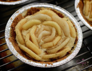 Apple & Pear Whiskey-Almond Custard Tarts. © 2012 Sugar + Shake