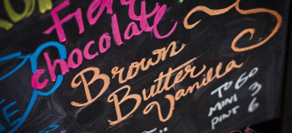 Many flavors to choose from at VIA Gelato. © 2012 Sugar + Shake