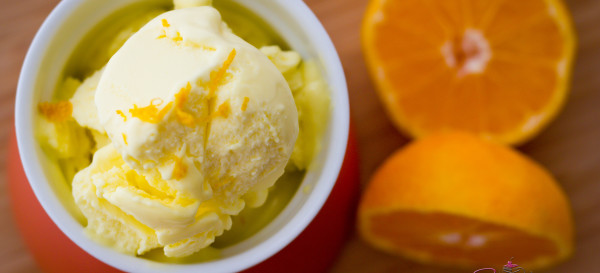 Blood Orange Olive Oil Ice Cream
