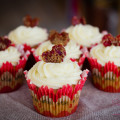 """Love Apple"" Cupcake with Mascarpone Frosting and Brown Sugar Sundried Tomato Heart © 2013 Sugar + Shake"