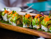 Rainbow Roll at Three's Bar & Grill in Kihei. © 2013 Sugar + Shake