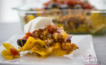 Ground turkey and quinoa nachos. Healthy, right? © 2014 Sugar + Shake