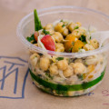 Deli pasta and chickpea salad at The Market by Capische. © 2014 Sugar + Shake
