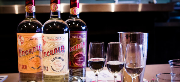 Campo de Encanto pisco tasting at The Manifest. © 2014 Sugar + Shake
