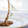 "The ""magic"" keeper element: A salt-coffee-sugar rim. © 2014 Sugar + Shake"