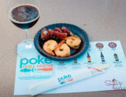 "Foodland Poke Pau Hana Preview Event. Pairing #7: Kimchee-Style Shrimp Poke + Big Island Brewhaus Coconut Porter. Pairing #8: Limu 'Ahi Poke + Gigantic ""The Business."" © 2016 Sugar + Shake"